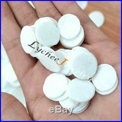 1000Pcs Round Felt Pads Appliques Non Woven Circle Patch Lining White 20MM Lots