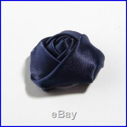 1000pcs 3.6CM 1.4 Satin Ribbon Rose Fabric Rolled Bud Flower For Hair Accessory