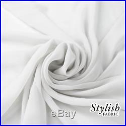 100 Yard Fabric by The yard, Sheer Chiffon Fabric, White Chiffon Fabric 58 Wide