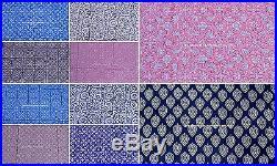 100 Yard Mix Wholesale Lot Indian Hand Block Print Fabric Cotton Running Fabric