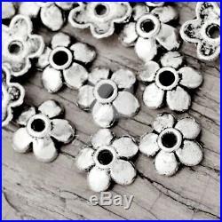 10-1000pcs lots tibétain argent Perles fin capuchons Métal bijoux fabrication