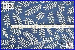 10 Yards Fabric Cotton Natural Hand Block Print Dress India H120