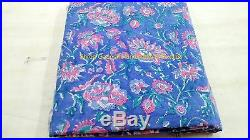 10 Yards Lot Indian Hand Block Print Pure Cotton Fabric Sanganeri Fabric SGHT 7