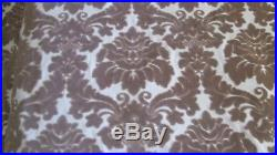 10 Yards Upholstery Fabric Velvet Brocade Taupe Cream Traditional LOT