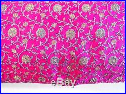 11 Yards Wholesale Lot India Silk Brocade Fabric Gold Floral 45 Wide 11 Yards