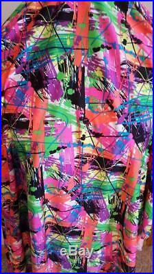 12 yard Lot Lycra, 6 patterns Abstract Colors Dancewear Performance Fabric