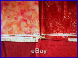 13 pc 27+ yard Red All Cotton Fabric Lot Hi-Fashion West Maywood Quilting Sewing