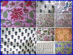 150 Yard Indian Handmade Block Print Jaipur Sanganeri Fabric Wholesale Lot