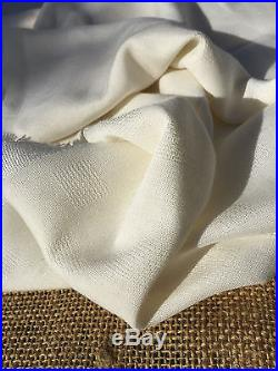 15 Yard Lot 60 PFD White Rayon Checkered Square Opaque Light Woven Fabric