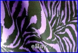 15 Yard Lot Zebra Print Poly Cotton Fabric 60 Decoration Safari Party