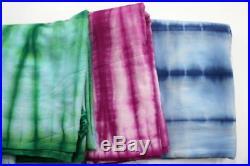 15 Yard Wholesale Lot`s Tie-Dye Cotton Indigo Blue Dyed Block Print Dress Fabric
