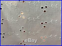 1950-60s Vintage Eyelet Cotton Fabric Wedding Bolt LOT of 5.5Yards