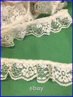 1 wide ruffled lace cream 5 yard lots will combine shipping #15
