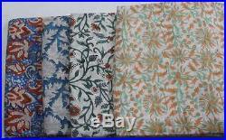 20 Yard Cotton Fabric Mix Lot Beauty Design Fabric Hand Block Print Fabric MS91