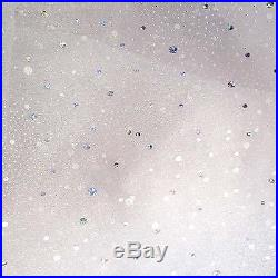 20 Yard Lot White Wedding Organza Holographic Sparkles 100% Poly 58w Fabric