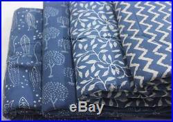 20 Yard Mix Lot Degainer Indian Hand Block Print Fabric Sanganeri Fabric 1187