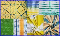 20 yard wholesale mix lot tie dye fabric Jaipur vintage shibori indigo fabric k