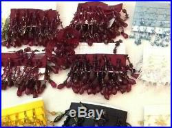 21 Yards Ribbon Glass Bead Seashell Craft Trim Tassel Fringe Fabric 2' Per Spool