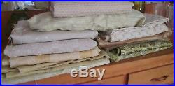 23+ yards Vintage Antique Textured Mid Century Fabric LOT Upholstery FREE SHIP
