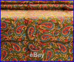 25 Yard Indian Hand Block Print Pure Cotton Fabric Sanganeri Running Fabric Lot