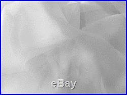 25 Yards White Smooth Chiffon Fabric 58 wide White Lot