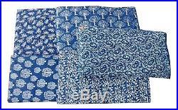 25 yards Lot Mix Indigo Blue Hand Block Print Cotton Fabric Bagru Print Fabric