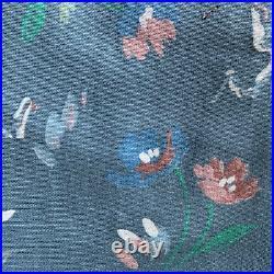 2 Lots Approx 3 Yds Each 60 Wide Floral Cotton Fabric Destash Sale
