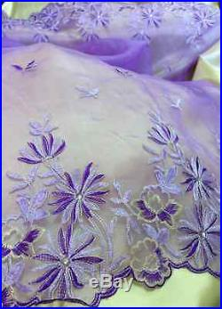 2 Yards of Beautiful Flower Embroidered Organza with Diamonds