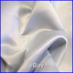 30 Yard Lot GRAY Peau de Soie Matte Satin Lamour 100% Polyester 60w Fabric