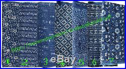 35Yard Lot Shibori Print Indigo Blue Tie Dye Cotton Fabric Hand Block Dabu Print