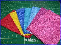 3.5 Yards Quilt Cotton Fabric Gemstones Swirl Fabric Lot 1/2 Yard Cuts