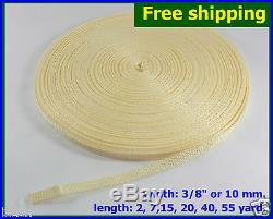 3/8(10mm) Cream Nylon webbing fabric lots DIY supply 3 7 15 20 40 55 yard FS
