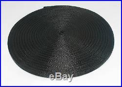 3/8(10mm) black Nylon webbing fabric lots DIY supply 3 7 15 20 40 55 yard FS