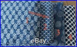 40Yard Indian Indigo Blue Fabric Hand Block Print Wholesale Lot Handmade Fabric9
