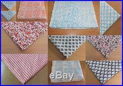 40 Yards Hand Block Print Cotton Fabric Wholesale Lot Geometric Print Fabric Lot