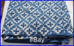 40 yard Lot Mix Dabu Print Indigo Blue Hand Block Print 100% Cotton Dye Fabric