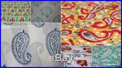 50 Yard Wholesale Lot Indian Hand Block Print Fabric Handmade Cotton Fabric