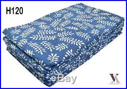 50 Yards Fabric Cotton Natural Hand Block Print Dress India H120
