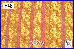 50 Yards Fabric Cotton Natural Hand Block Print Floral Dress Material Bagru H48
