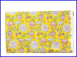 5Pc Cloth 25 Yard Wholesale Lot Dress Material Hand Block Cotton Floral Fabric
