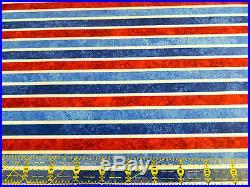 5 Yards 100% Cotton Fabric Lot Americana Theme Stonhenge 5 1 yd Cuts