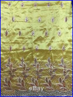 5 Yards African George Lace Fabric Bead Sequin Fabric Sewing Material Dress Blue