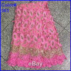 5 yards/lot fashion lace fabric, mesh lace for evening dress sewing fabric