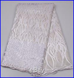 5yards/lot High quality nigerian french lace african lace fabric for party dress