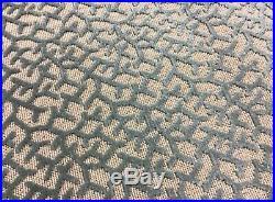 7 Yards Lot Cowtan & Tout Bermuda Cut Velvet Fabric BEIGE and AQUA