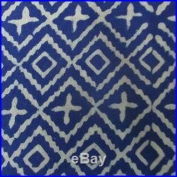80 Yard Lot Indian Natural Indigo Blue Fabric Hand Dabu Fabric Dress Block Prin