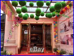 ARTIFICIAL Snapdragon GRASS BALL TOPIARY OUT/INDOOR FAUX BOXWOOD BALL HOUSE YARD