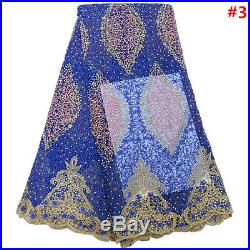 African lace fabric french net lace fabric cord lace high quality 5 yards/lot