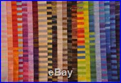 Artisan Batik Yard. 5 Stripes Lot 22 Yards Assorted Colors Batiks Fabrics Lunn