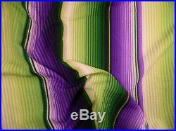 Bullet Printed Liverpool Textured Fabric Stretch Serape Stripe Purple Green U28